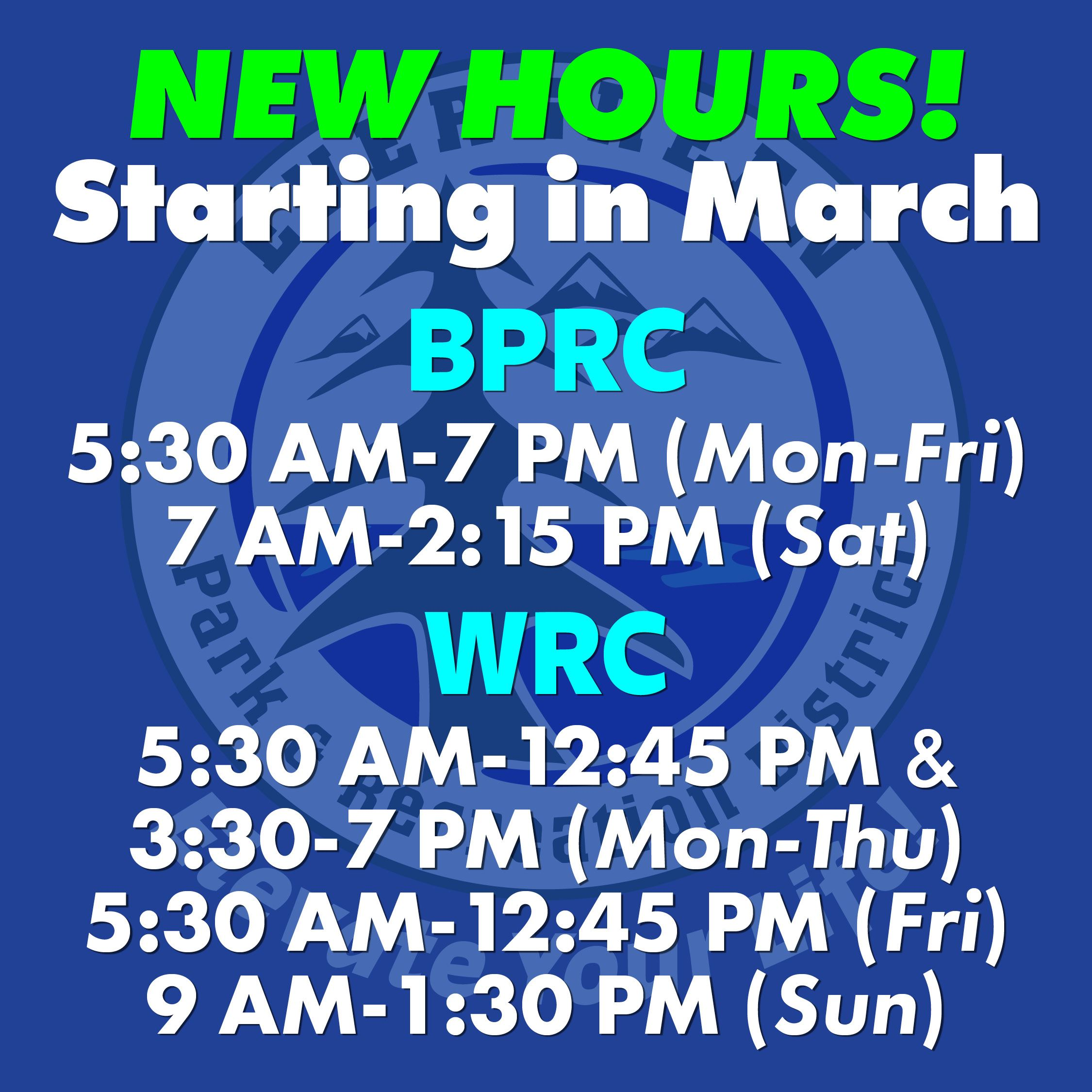 Rec Center New Hours_Mar 2021