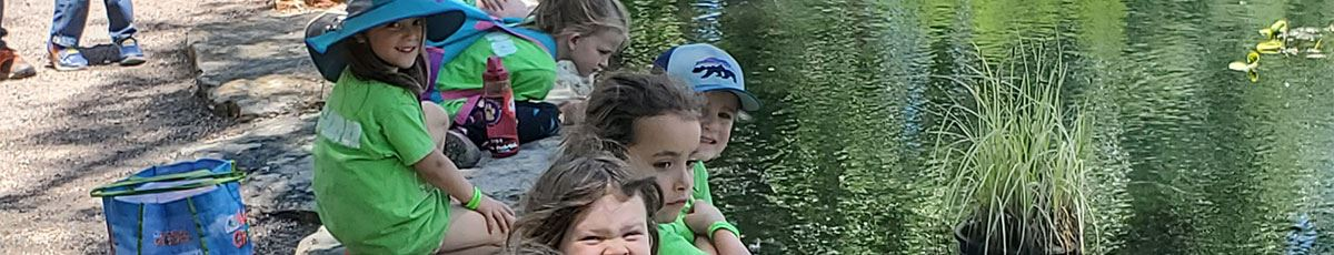 Summer Adventure camp with kids at Hudson Gardens pond