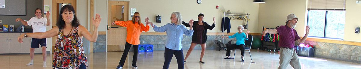 Tai Chi Chuan class featuring adults going through their forms