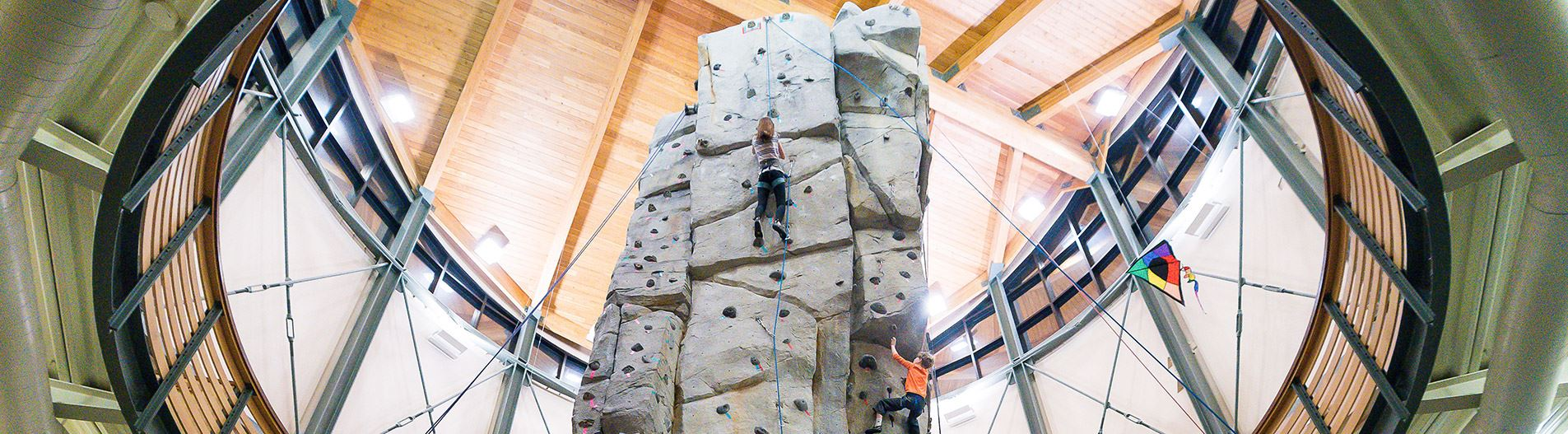 Indoor climbing at the Buchanan Park pinnacle