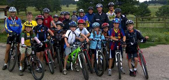 Group of Youth Mountain Bikers