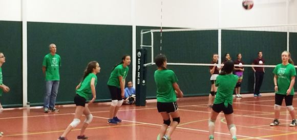 Youth Girls Volleyball Game