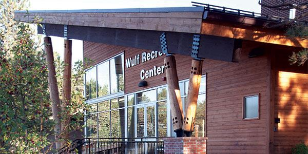 Wulf Recreation Center main entrance